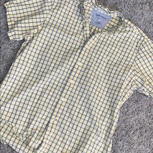Nautica yellow button down shirtSZ L